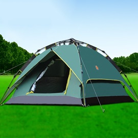 3-4 Person Fiber Glass Pole Outdoor Tent