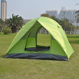 3-4 Person Sun-Protective Fiber Glass Pole Outdoor Tent
