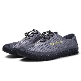 Breathable Mesh Lace-Up Casual Shoes