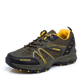 Breathable Mesh Lace-Up Outdoor Shoes