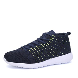 Breathable Thread Lace-Up Sport Shoes