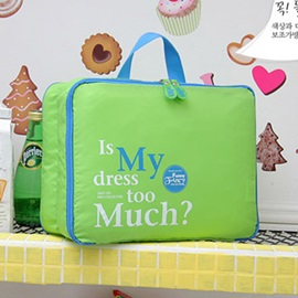 Elegant Fashion Zip Durable Travel Storage Bag With Graphic Letter