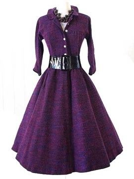 Vintage Wind 3/4 Sleeve Ball Gown Dress