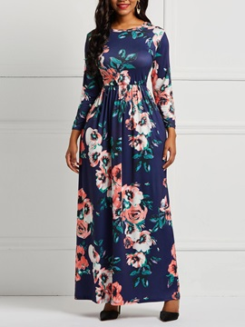 Pocket Floral Country Women's  Dress