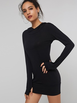 Turtleneck Long Sleeve Women's Sweater Dress
