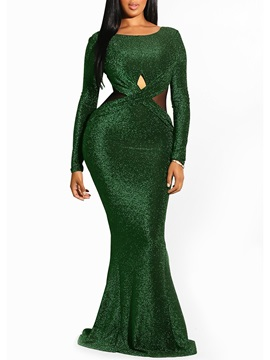 Floor-Length Mermaid Fall Women's  Dress