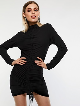 Above Knee Pullover Casual Women's Bodycon Dress