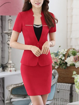 Slimming Cowl-Neck Short Sleeve 2-Piece Dress