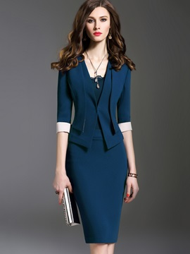 Wear To Work Women Dress Suit