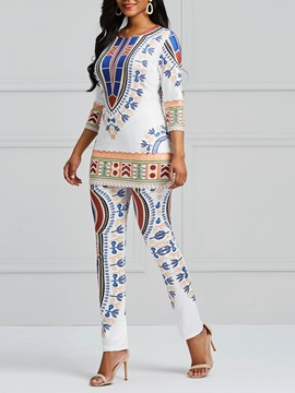 Dashiki Pullover and Pants Women's Suit