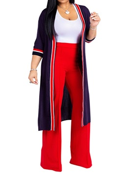 Color Block Long Fashion Women's 3-Piece Set