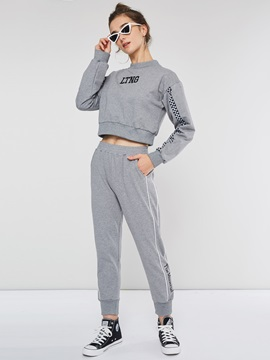 Casual Pullover Sweatshirt And Harem Pants Women's Two Piece Set