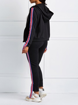 Casual Ankle Length Pencil Pants Pullover Women's Two Piece Set