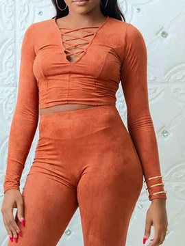 Plain Mid-Calf Western Pullover Pencil Women's Two Piece Sets