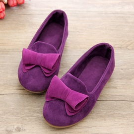 Candy Color Bowknot Decorated Kid's Flats