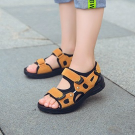 Simple Ski-Proof Patchwork Boy's Sandal