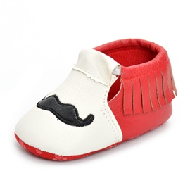 PU Color Block Elastic Band Baby's Shoes