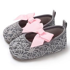 Bowtie Elastic Band Baby Girl Shoes