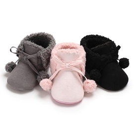 Plain Lace-Up Baby Booties