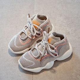 Patchwork Round Toe Kids' Sneakers