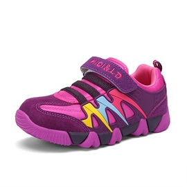 Round Toe Color Block Kids' Sneakers