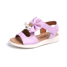 Plain Bow Open Toe Kids' Sandals