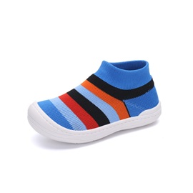 Round Toe Stripe Slip-On Kids' Sneakers