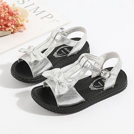 Low-Cut Upper Open Toe Plain Kid's Sandals