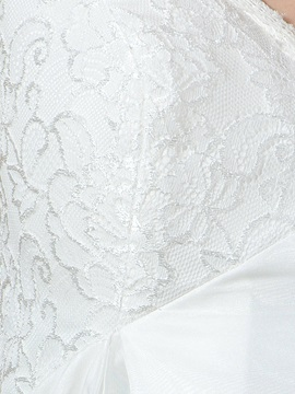 Lace Cap Sleeve Empire Pregnant Maternity Wedding Dress