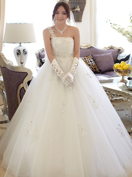 Princess One Shoulder Ball Gown Maternity Wedding Dress