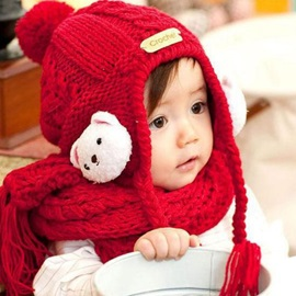 Cute Rabbit Woolen Yarn Kids Hat