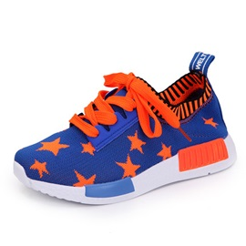 Star-Print Lace-Up Boy's Sneakers