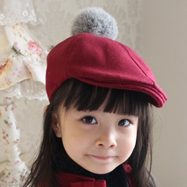 Cute Wool Blends Kid's Beret Hat
