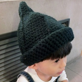 Roll Brim Design Kid's Knitted Hat