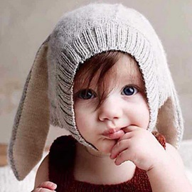 Cute Big Ear Plain Kid's Hat