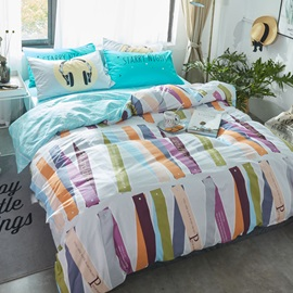 Wannaus Nordic Style Stripes Printed Cotton Kids Duvet Covers/Bedding Sets
