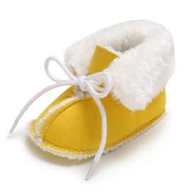 Plain Lace-Up Baby Walking Shoes