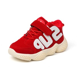 PU Letter Lace-Up Sneakers