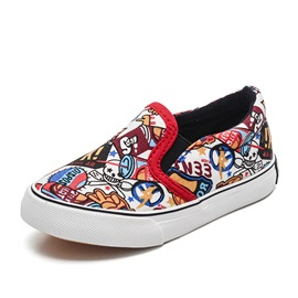 Canvas Round Toe Slip-On Kids' Shoes
