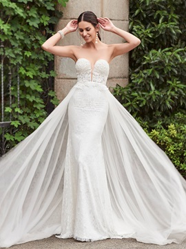 Charming Sweetheart Lace Mermaid Wedding Dress