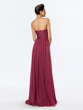 Elegant Ruched Sweetheart Bridesmaid Dress