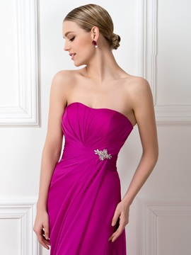 Dazzling Strapless Sweetheart Floor Length A-Line Bridesmaid Dress