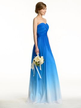 Ruched Sweetheart Zip-up Exclusive Color Waves Bridesmaid Dress