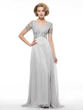 Appliques Beading Mother of the Bride Dress