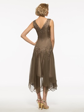 Beautiful A Line Asymmetry Mother Of The Bride Dress With Jacket