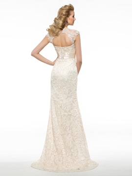 Sexy Slim Backless Lace Long Mother of the Bride Dress