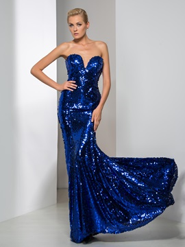 Shining Sweetheart Mermaid Sequined Evening Dress