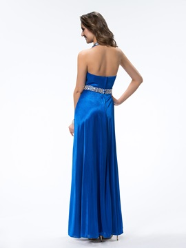 Admirable Halter Beading Pleats A-Line Floor-Length Evening Dress