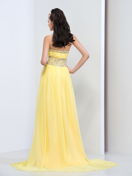 Sparking Halter Empire Waist Beaded Crystal Long Prom Dress
