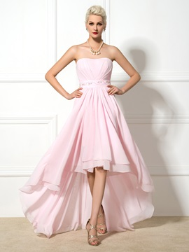 Chic Sweetheart A-Line Beaded Asymmrtrical Prom Dress
